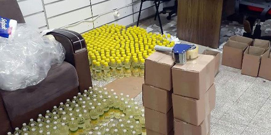 Bağcılar'da kaçak kolonya imalathanesine baskın