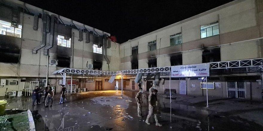 Bağdat'ta pandemi hastanesindeki yangında hayatını kaybedenlerin sayısı 82'ye yükseldi