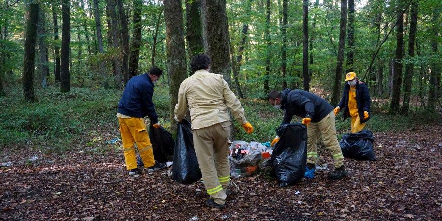 Belgrad Ormanı'ndan 31 ton çöp toplandı