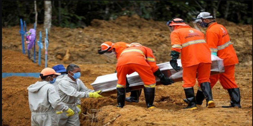 Brezilya ve Hindistan'da Covid-19 kaynaklı ölümler artıyor
