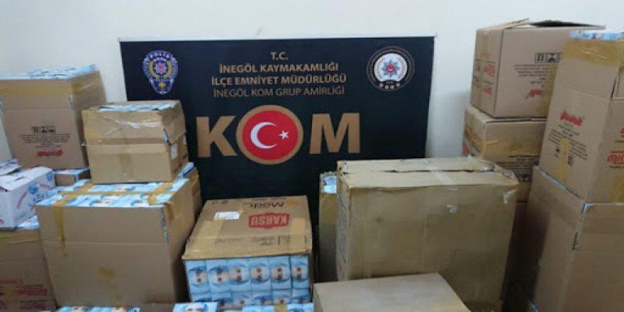 Bursa'da kaçak maske baskını