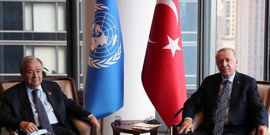 Cumhurbaşkanı Erdoğan'dan, BM Genel Sekreteri Guterres ile görüşme