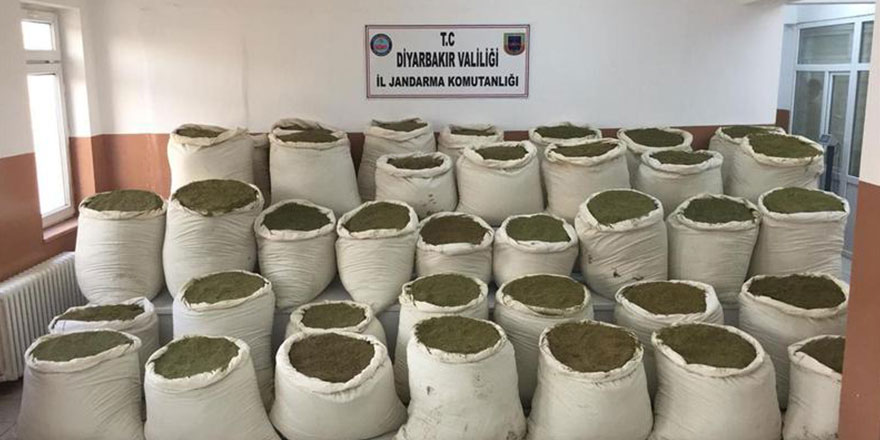 Diyarbakır'da 4 günde 3 ton esrar ele geçirildi