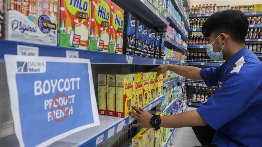 Endonezya'da 180 süpermarkette Fransız ürünlerinin satışı durduruldu