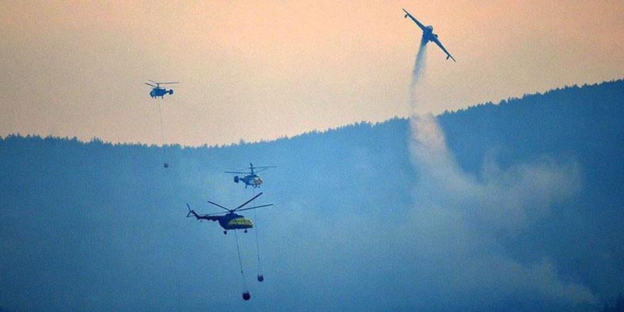 Gelibolu'daki yangına havadan müdahale günün ilk saatleri ile yeniden başladı