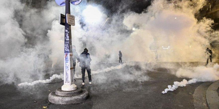 Güvenlik tasarısı protestosuna polis müdahalesi