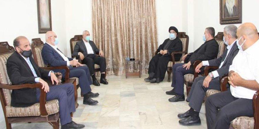 Hamas lideri Heniyye ile Nasrallah Beyrut'ta buluştu