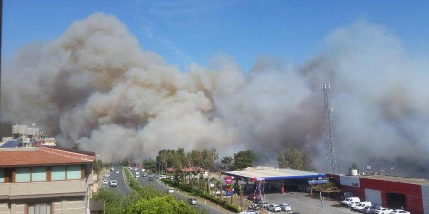 Hatay'da orman yangını yerleşim yerlerine sıçradı