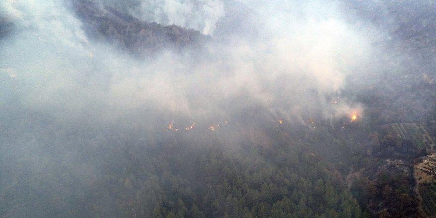 Hatay'da orman yangınına müdahale devam ediyor