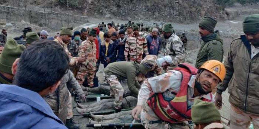 Hindistan'daki buzul felaketinde ölü sayısı 14'e yükseldi