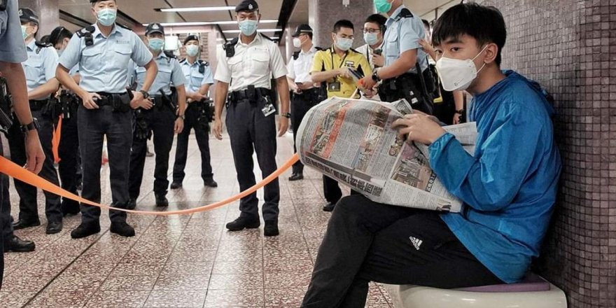Hong Kong'da tepki çeken olay!