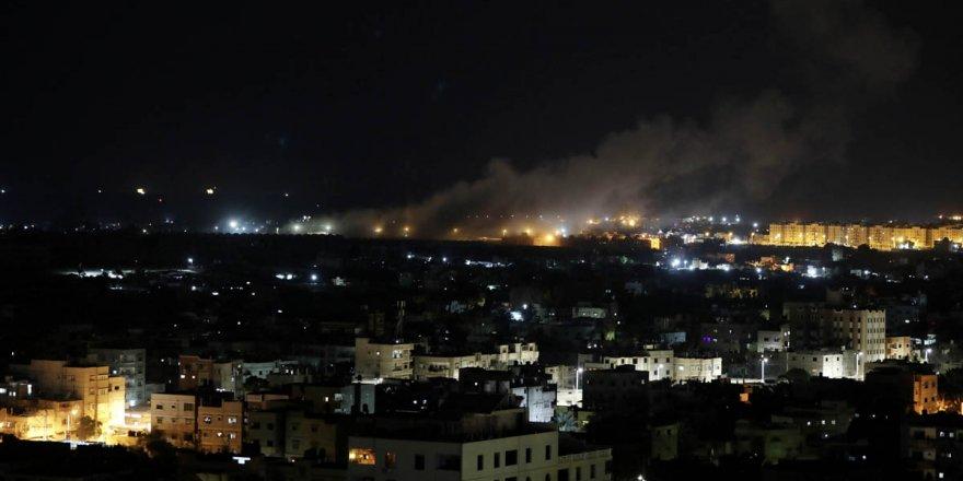 İşgalci İsrail, Gazze'ye hava saldırısı gerçekleştirdi
