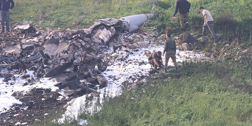 İsrail F-16'sı vurularak düşürüldü!
