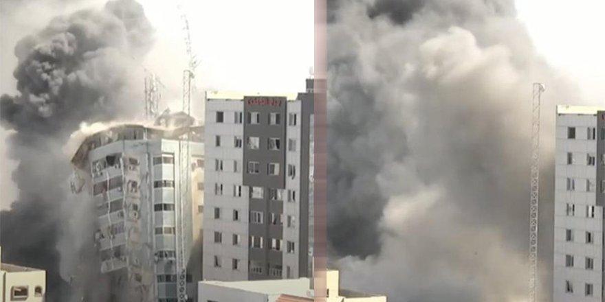 İsrail, Gazze'de uluslararası televizyonların bulunduğu binayı yerle bir etti!