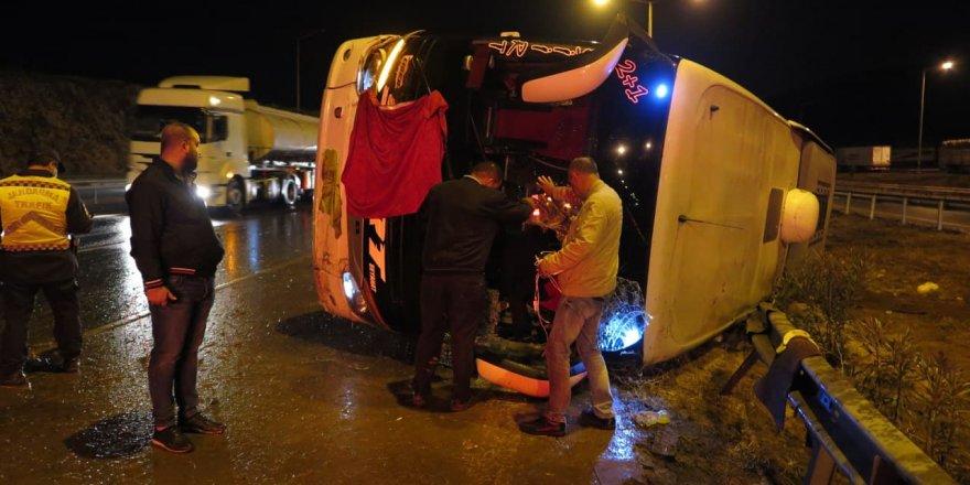 Kahramanmaraş'ta otobüs devrildi