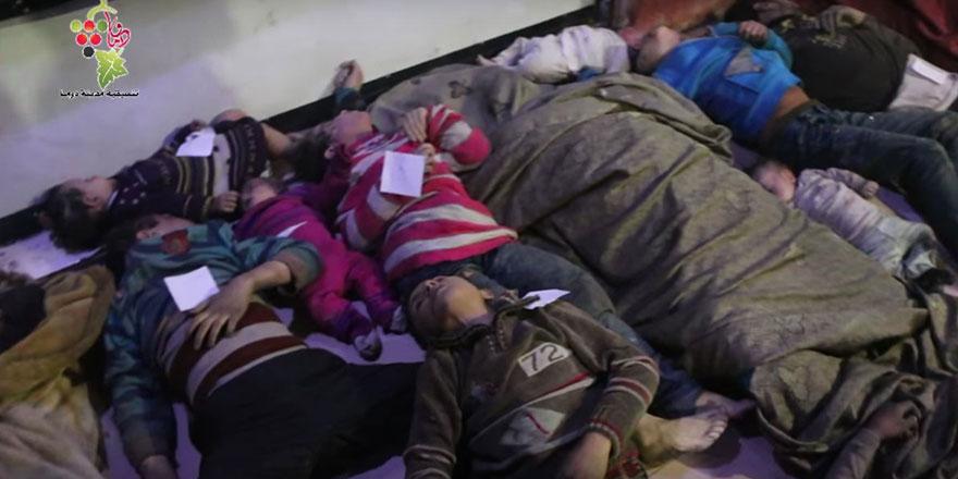 Katil ve müttefikleri tahliye edilen sivillere sarin ile saldırdı