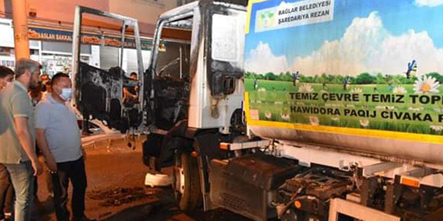 Kayyım sonrası Diyarbakır'da değişen dengeler, belediye hizmet aracı ateşe verildi