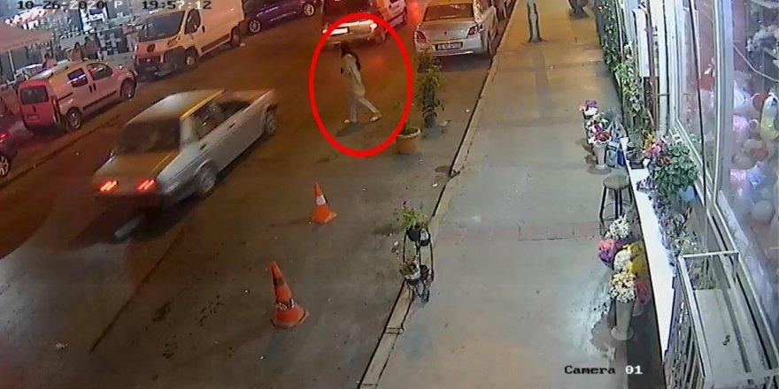 Kaza sonrası kaçan sürücü kameralara yakalandı