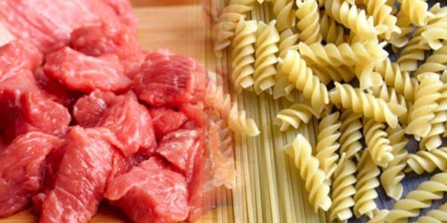 Kırmızı et tüketimi azalırken makarna tüketimi arttı