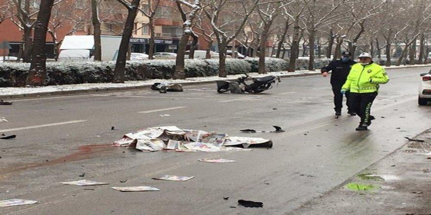 Konya'da feci motosiklet kazası: 1 ölü!