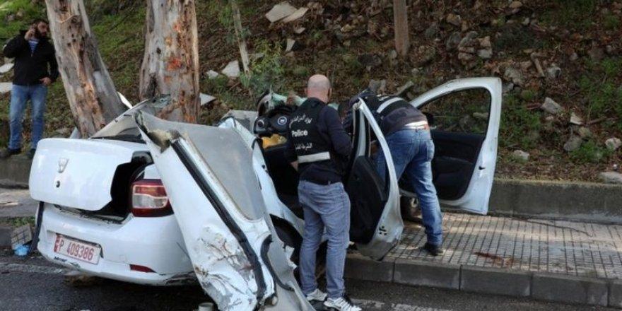 Lübnan'da firar ettikten sonra ağaca çarpan 6 tutukludan 5'i öldü
