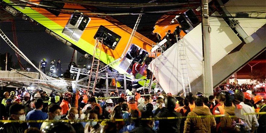 Mexico City metrosu üst geçidi çöktü: 15 ölü, 70 yaralı