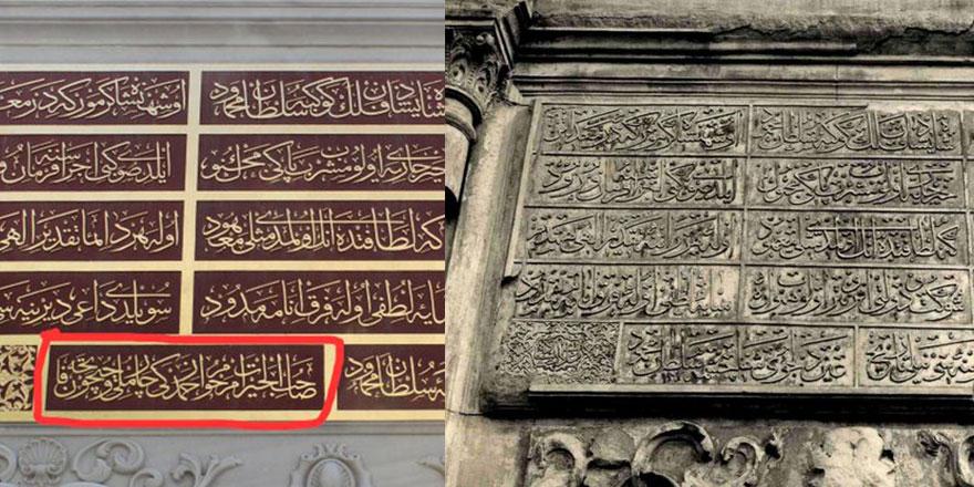 Milletvekili restore edilen tarihi kitabeye babasının adını ekletti!