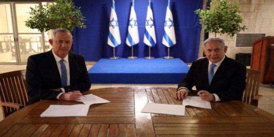 Netanyahu ve Gantz koalisyon hükümeti kurma konusunda anlaştı