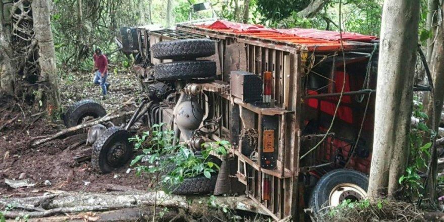 Nikaragua'da devrilen otobüsten 17 cansız beden çıktı
