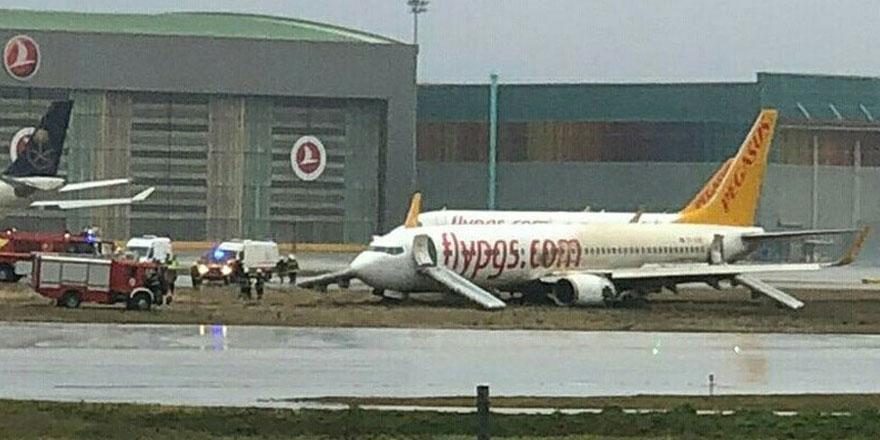 Pistten çıkan uçak sebebiyle Sabiha Gökçen'de uçuşlar iptal