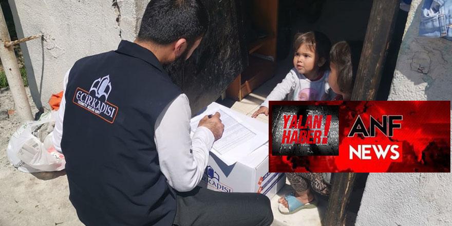 PKK haber ajansı ANF, yardım derneğini hedef gösterdi
