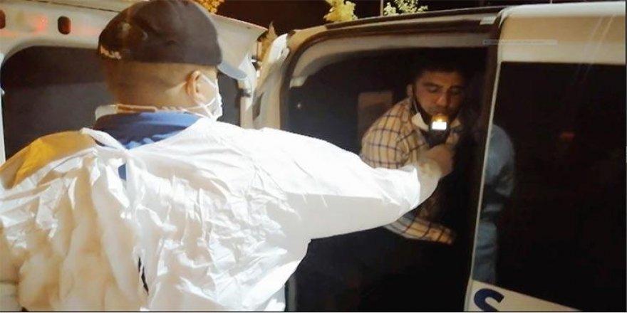 Polisten kaçan alkollü sürücü koronavirüslü çıktı