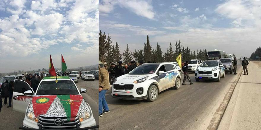Rejim bölgesinden geçerek Afrin'e ulaştılar!