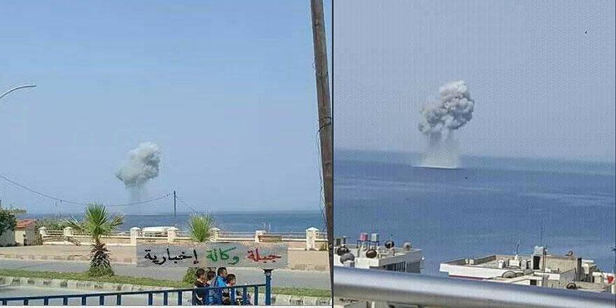 Rus savaş uçağı Lazkiye açıklarında denize çakıldı!