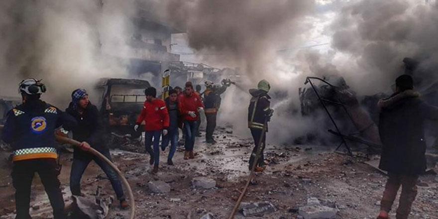 Rus uçakları İdlib'te pazar yerini vurdu: 10 ölü
