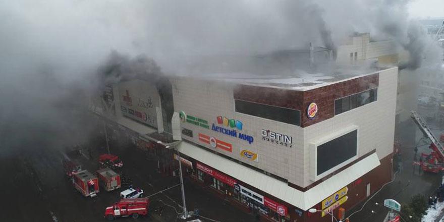 Rusya'da AVM yangını: Ölü sayısı 64'e çıktı