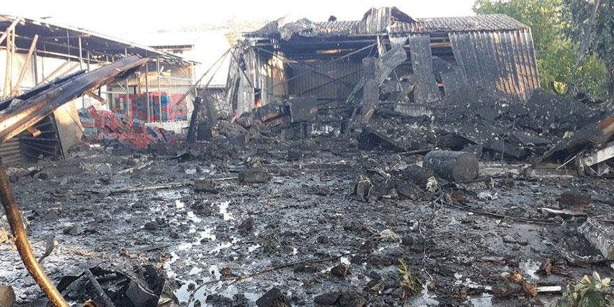 Salyangoz üretim tesisinde şiddetli patlama