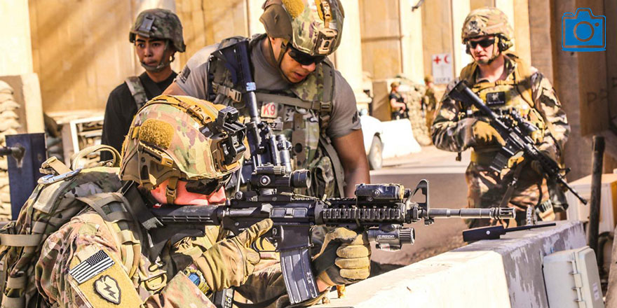 Sevk edilen ABD askerleri Bağdat'ta mevzilendi