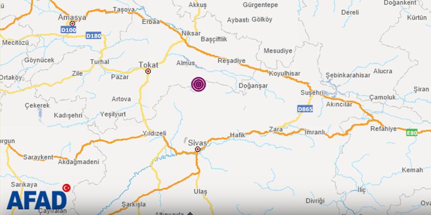 Son dakika: Sivas'ta deprem