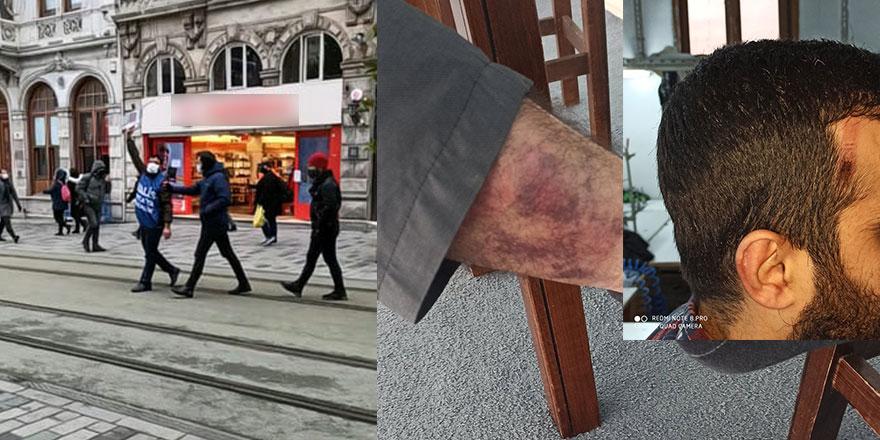 Taksim'de tek kişilik protestoya sert müdahale