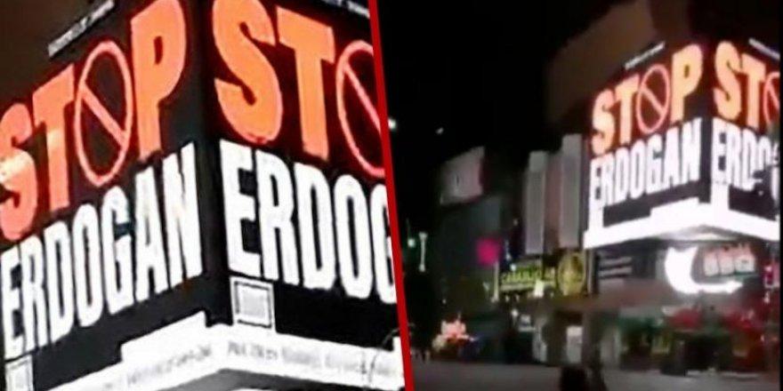 """Time Meydanı'ndaki """"Stop Erdoğan"""" ilanlarına AK Parti'den yanıt"""