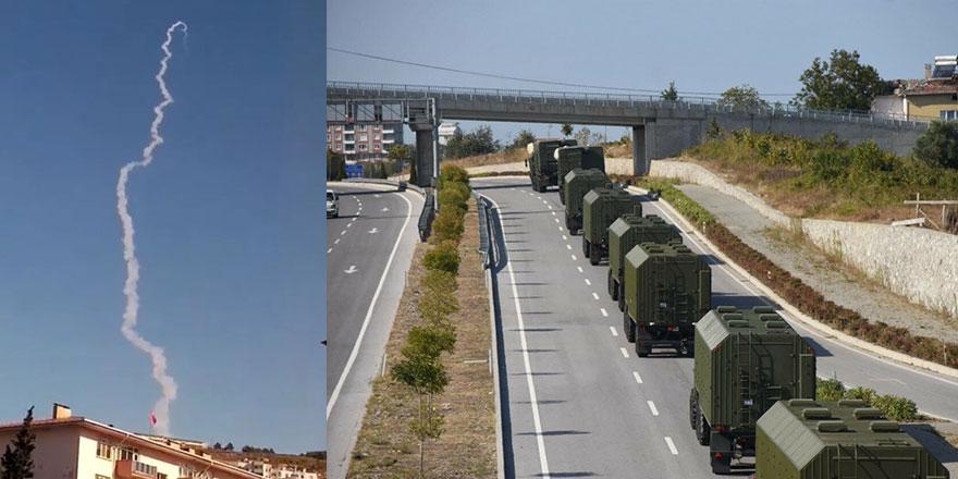 Türkiye ilk  S-400 denemesini Karadeniz'e kıyısı olan Sinop'ta gerçekleştirdi