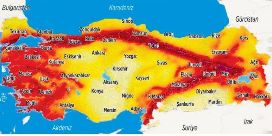 Türkiye'nin 18 ili aktif fay hattının üzerinde; işte o iller