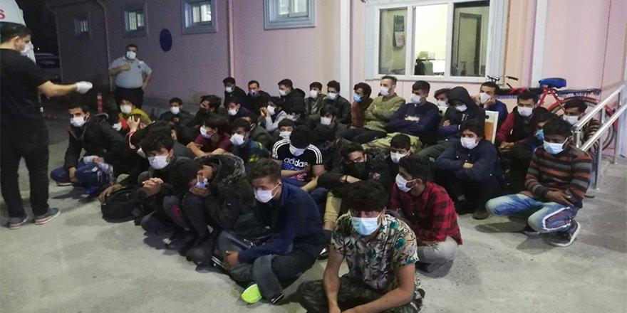 Ülkeye yasa dışı yollarla giren 66 düzensiz göçmen yakalandı