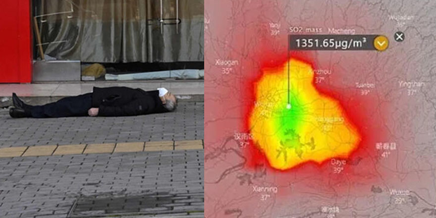 Wuhan'a ceset bulutu çöktü