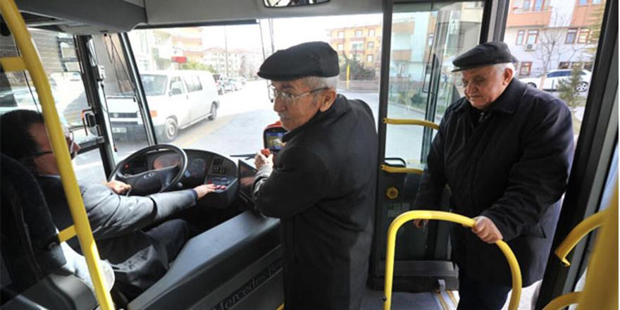 Yaşlıların ücretsiz otobüs kartları iptal ediliyor