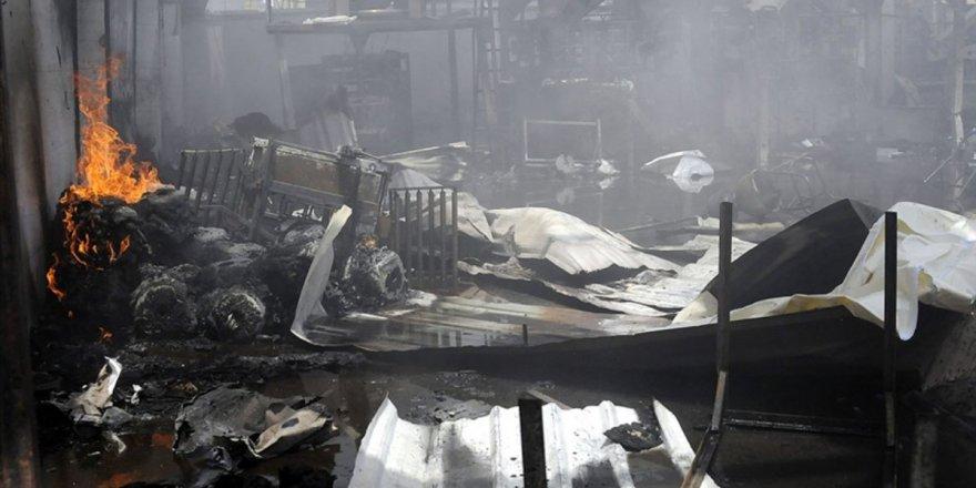 Yemen'deki göçmen merkezi yangında 8kişi hayatını kaybetti
