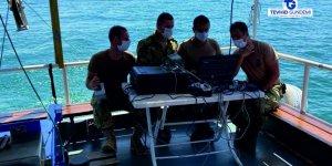 Van Gölü'ndebatan tekne 107 metre derinlikte bulundu.