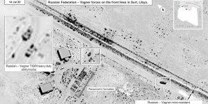ABD, Libya'daki Rus ekipmanlarının görüntülerini paylaştı