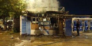 İBB'ye ait Halk Ekmek büfesinde yangın çıktı